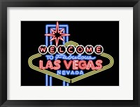 Framed Welcome to Las Vegas
