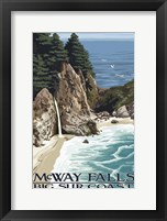 McWay Falls Framed Print