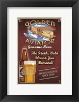 Framed Golden Aviator