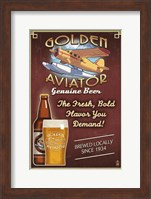 Framed Golden Aviator