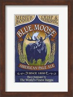 Framed Blue Moose Pale Ale