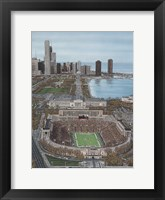 Framed Chicago's Soldier Field