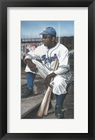 Framed Jackie Robinson Minor League Royals