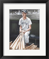 Framed Ted Williams on Deck