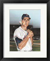 Framed Ted williams Portrait
