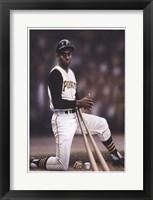 Framed Roberto Clemente on Deck