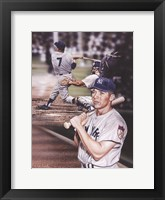 Framed Mickey Mantle The Mick.