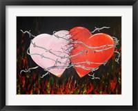 Framed Hearts Together Crashing Hearts