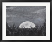 Framed Starry Night Over the Moon