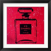 Framed Chanel Pop Art Red Chic