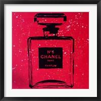 Framed Chanel Pop Art Red Chic