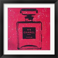 Framed Chanel Pop Art Rosey Chic