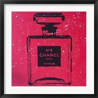 Framed Chanel Pop Art Rosey Chic