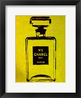Framed Chanel Pop Art Yellow Chic