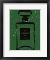 Chanel Pop Art Green Chic Framed Print