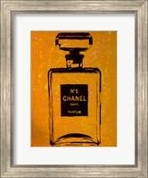 Framed Chanel Pop Art Orange Chic