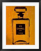 Framed Chanel Pop Art Orange Chic