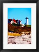 Nobska Lighthouse Portrait Framed Print