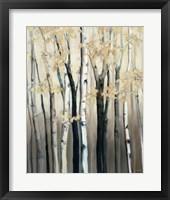 Framed Golden Birch I