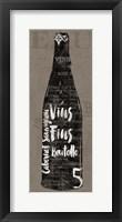 Linen Wine II Framed Print