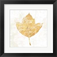 Framed Bronzed Leaf I