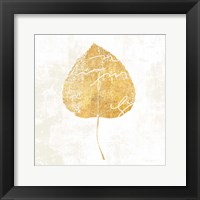 Framed Bronzed Leaf II