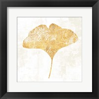 Framed Bronzed Leaf III