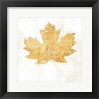 Framed Bronzed Leaf IV