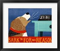 Framed Barkin for no Reason Beagle