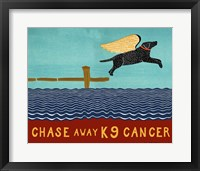 Framed Chase Away K9 Cancer