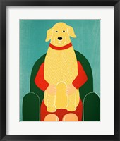 Framed Lap Dog Yellow