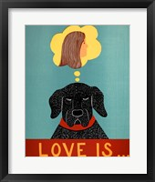 Framed Love Is Dog Girl Black