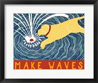 Framed Make Waves Yellow Wbanner