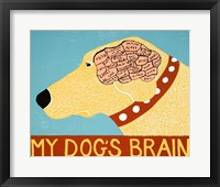 Framed My Dogs Brain Yellow