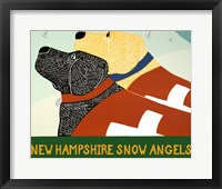 Framed New Hampshire Snow Angels