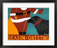 Framed Seasons Greetings Black