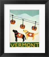 Framed Vermont Ski Patrol Black