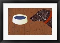 Water Bowl Good Dog Framed Print