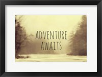 Adventure Awaits II Framed Print