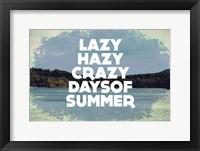 Framed Hazy Days Of Summer