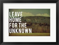 Framed Leave Home