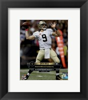 Framed Drew Brees 400th Career Touchdown Pass October 4, 2015 in New Orleans, Louisiana