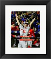 Framed Max Scherzer celebrates his 2nd No-Hitter of the season- October 3, 2015
