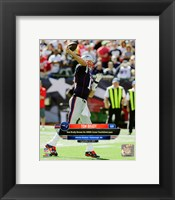 Framed Tom Brady 400th Career Touchdown Pass September 27, 2015, in Foxborough, MA.