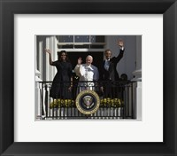 Framed First Lady Michelle Obama, Pope Francis and President Barack Obama