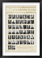 Framed U.S. Presidents