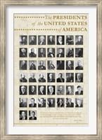 Framed U.S. Presidents