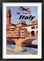 Framed Fly To Italy