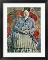 Framed Madame Cezanne (red chair)