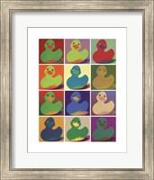 Framed Pop Art Ducky